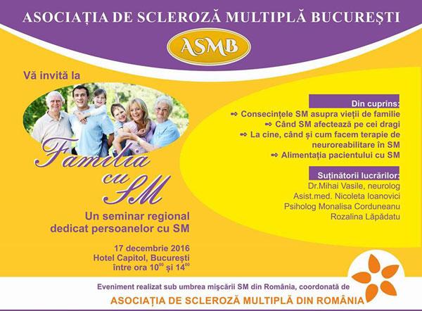 """Seminar """"Familia cu SM"""""""
